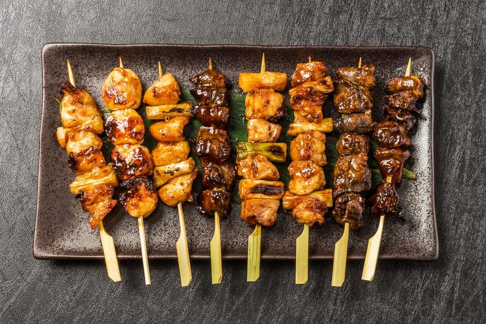 (yakitori) Japanese chicken barbecue