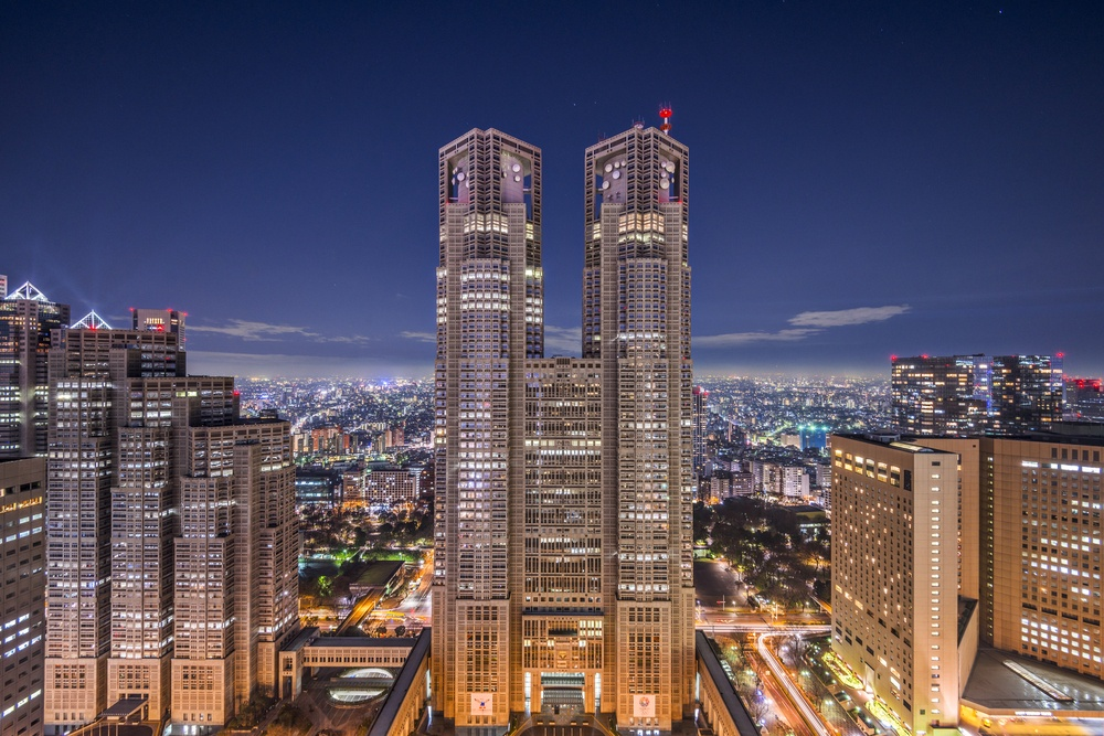 Metropolitan Government Building of Tokyo, Japan which houses the Tokyo Metropolitan Government Sean Pavone - Shutterstock.com