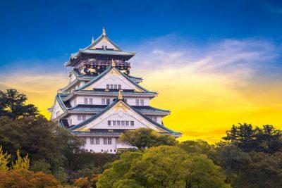 Osaka Castle in autumn season. Japan
