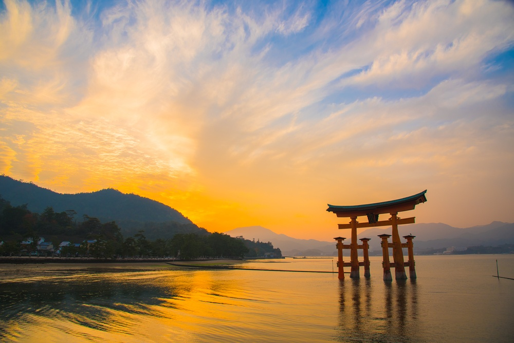 The great Torii on Miyajima island