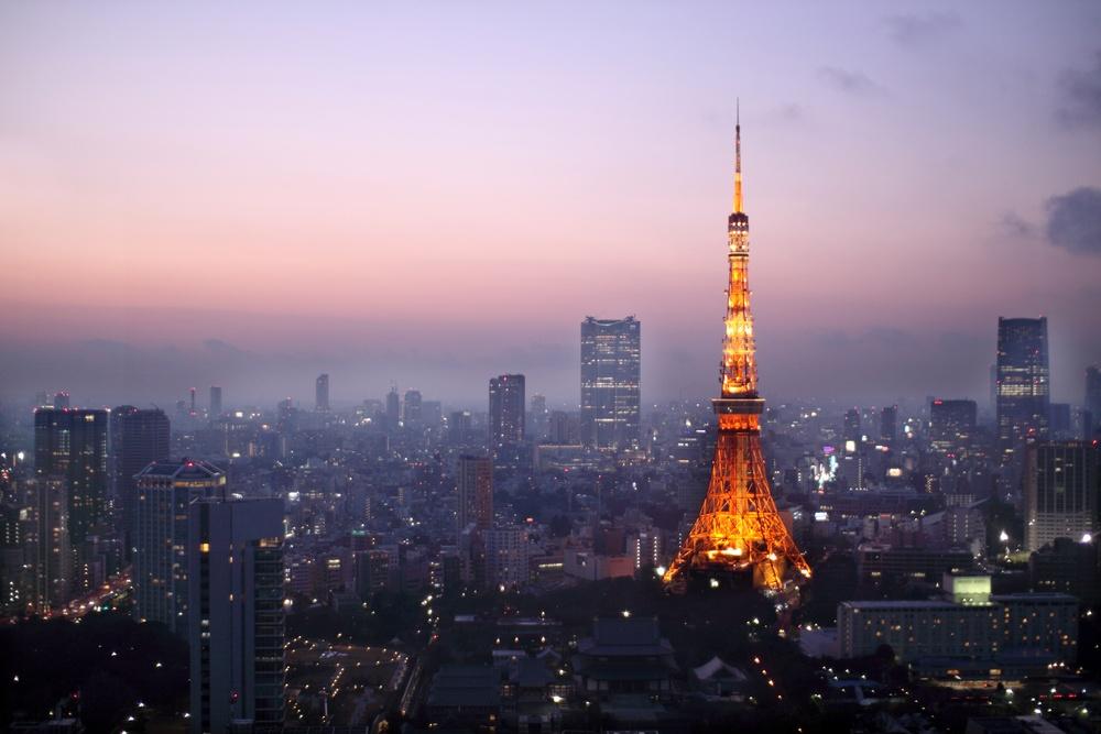 Tokyo Tower during sunset