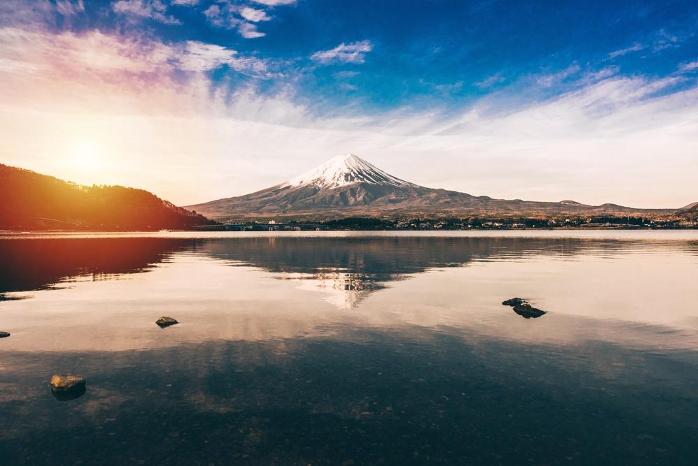 mt.Fuji in kawaguchiko lake,Kawaguchiko lake of Japan,Mount Fuji, Kawaguchi Lake